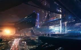 Wallpaper lights Mass Effect fantasy art night space