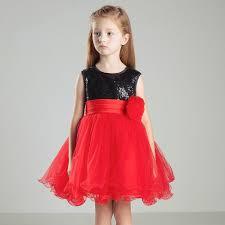 beautiful kids frock designs black sequins top bow back little