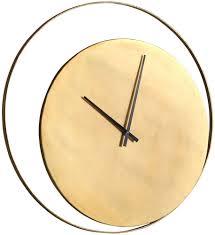 casa padrino designer wanduhr gold 80 cm runde industrial design metall uhr wohnzimmer deko accessoires