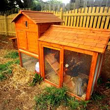 KCT Large Wooden Rabbit Hutch With Enclosed Run Cover