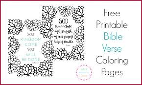 Stupefying Christian Coloring Pages With Verses Free Printable Bible Verse Bursting Blossoms
