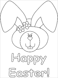 Printable Easter Bunny Coloring Page