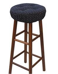 Walmart Gripper Chair Pads by Amazon Com Klear Vu Gripper Twinlakes Barstool Cover Navy Home