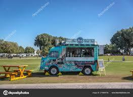 100 Green Food Truck Doha Qatar Jan 9Th 2018 Selling S Beverages