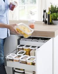 optimale lagerung in den küchenschränken emsa optima