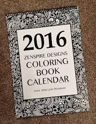 Zentangle 2016 Calendar Coloring Book Version