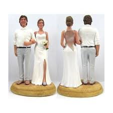 Bride And Groom Beach Theme Vintage Wedding Cake Toppers Style