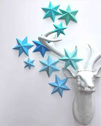 Decoration With Paper Star Flowers Decor Youtube Diy D Wall