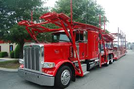100 Trucking Companies That Train Red Peterbilt Carhauler With Cotrell Headrack And Highrail Trailer
