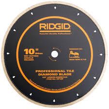 Dewalt Tile Saws Home Depot by Ridgid 10 In Diamond Edge Tile Circular Saw Blade Cp10p The