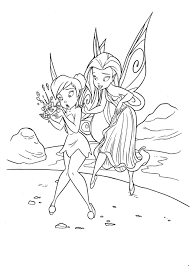 Fairy Cartoon Coloring Pages Tinkerbell Online Games Free Printable Sheets Full Size