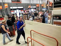 Hurricane Irma Nowhere to run say folks in Home Depot lot