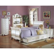 Full Sleigh Bed by Pearl White Sleigh Bed In Pearl White With Gold Accent Multiple