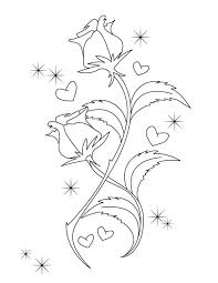 600x776 Beautiful Drawing Of Hearts And Roses Coloring Page Color Luna