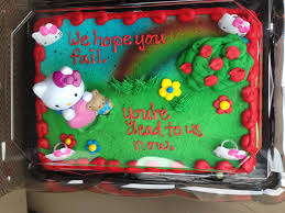 Coworker s last day going away cake