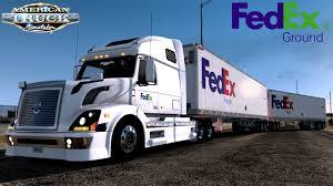 100 Fed Ex Trucking FEDEX FREIGHT VOLVO VNL AMERICAN TRUCK SIMULATOR YouTube