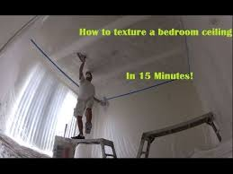 Skip Trowel Over Popcorn Ceiling by How To Skip Trowel Texture A Bedroom Ceiling In 15 Minutes Youtube