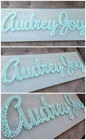 DIY String Art Nursery Name Nail And Yarn Popular With The Poplins