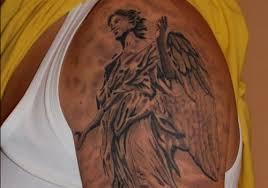 Religious Angel Kids Tattoo Photo