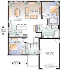 1st Level Modern Rustic House Plan Split Entry Great Open Floor Layout