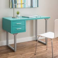 Parsons Mini Desk Aqua by Retro Turquoise And Grey Writing Desk Free Shipping Today