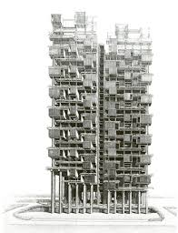 100 Architect Paul Rudolph Drawing For The Colonnade Condominiums In Singapore