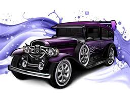 Wonderful Drawings Of Antique Cars 4