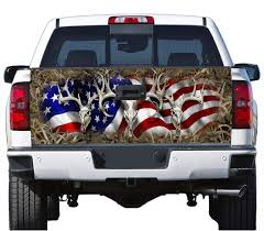 Amazon.com: Truck Tailgate Wrap Decal Deer Skull Flag Grass Camo 3m ...