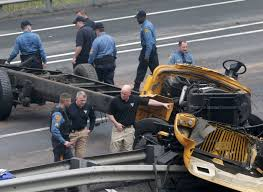 New Jersey Bus Crash Kills 2, Injures 43: The Latest | Time Investigators Probe Cause Of School Bus Crash That Killed 2 Naples Nj Transit Bus Driver Killed After Headon Crash With Garbage Truck Truck Crashed Into A Wooded Area Goffle Brook Park In New Jersey Police 3 Seriously Injured In Woman Struck By Dump Union Citytuesday Morning 1 Cop Dead Injured After Headon Nyc The Morning Call Hurt On Route 70 Pemberton Twp Two 43 Torn Apart Tanker Accident Turnpike Dozens When Collides With