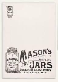 Mason Jars Print Feedsack 100 Cotton Kitchen Tea Towels Set Of Two