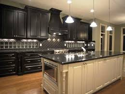 Painting Kitchen Cabinets Black Distressed Fresh At Wonderful