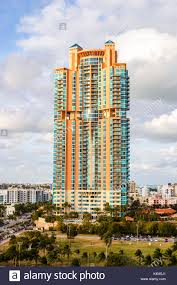 100 Modern Miami Homes Colourful Modern Tall Waterfront Apartment Block Ocean View