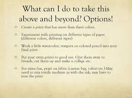 Printmaking Block Print Reduction Art 2 Subject Matter For