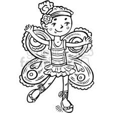 Royalty Free girl dressed up like a fairy princess vector clip art image EPS SVG PDF illustration