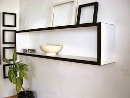 Exciting White Floating Shelves Office Photo Inspiration