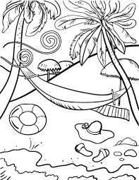 Free Beach Coloring Page