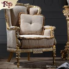 Italian Living Room Furniture Classic Wood Royal French Style Manufacturer One Person Sofa Round Back Chair Provincial