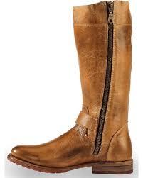 bed stu women s tan gogo lug strap boots round toe sheplers