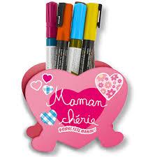 coeur de en pot pot à crayons cœur la fête des mères sur tête à modeler