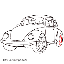 How To Draw An Old Time Car Volkswagen Beetle