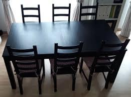 ikea kaustby stuhl schwarz