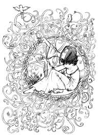 Zen Anti Stress To Print Princess In Leaves And Branches