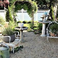 Pea Gravel Patio Images by Pea Gravel Patio With Bird Bath And Trellis Inexpensive Pea