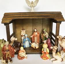 Vintage Wood Nativity Stable Creche Manger 13 Piece Porcelain ... Was Jesus Really Born In A Stable Nativity Scene Pictures Hut With Ladder And Barn Online Sales On Holyartcom Scenes Nativity Sets Manger Display Yonderstar Handmade Wooden Opas Scene Christmas Set Outdoor Manger Family Wooden Setting House Red Roof Trough 2235x18 Cm For Vintage Wood Creche Religious Amazoncom Fontani 5 54628 Stable Fountain 28x42x18cm Fireplace 350x24 Bungalow Like Neapolitan 237x29cm
