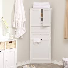 Tall White Shaker Style Bathroom Cabinet Freestanding by Corner Bathroom Cabinet Freestanding Unit Home Decorating