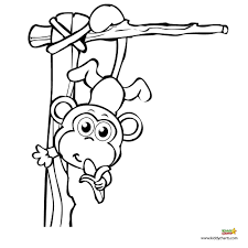 Download Coloring Pages Monkey Great Monkeys Kids Createawellness Sheets