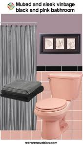 16 designs to decorate a pink and black bathroom retro renovation