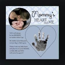 Mommy Handprint Frame Heart And Me Infants Crafts Pinterest