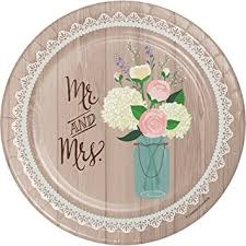 Creative Converting 8 Count Sturdy Style Paper Dessert Plates 7quot Rustic Wedding