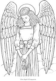 Welkom To Dover Publications Angel Fantasy Myth Mythical Legend Wings Warrior Valkyrie Anjos Goth Gothic Coloring Pages Colouring Adult Detailed Advanced